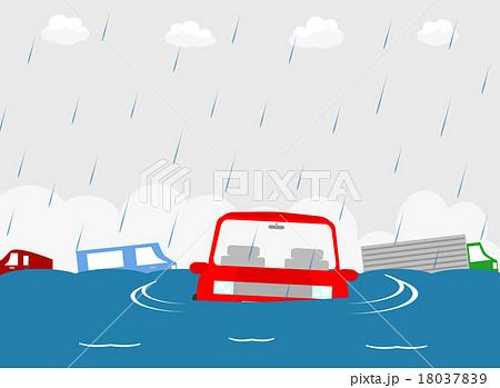 車 洪水 18037839