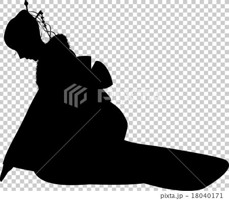 和服剪影(弓) 18040171