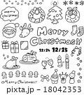 クリスマス 線画 素材のイラスト 18042353
