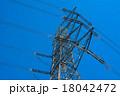 鉄塔 青空 電線の写真 18042472