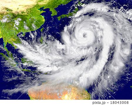 Hurricane north of Australia 18043008