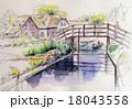 公園の遊覧船のスケッチ 18043558