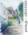英国コッツウェルのイングリッシュガーデンのスケッチ 18043560