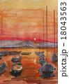 ハワイの夕陽 18043563