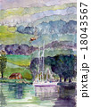 英国湖水地方コニストンのスケッチ 18043567