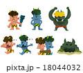 鬼イラスト(色カラフル) 18044032