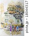 神戸北野町萌黄の館 神戸異人館街 スケッチ画 18044317