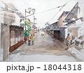 篠山商家町のスケッチ画 18044318