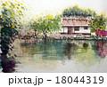 篠山の商家町のスケッチ画 18044319