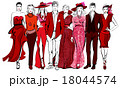 Colorful fashion women and men defile 18044574