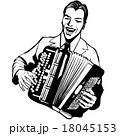 アコーディオン 楽器 男のイラスト 18045153