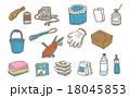 防災用具のセット 18045853
