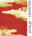 背景 和 紅葉のイラスト 18046789