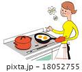 料理をするお母さん 18052755