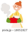 女性 料理 鍋のイラスト 18052827