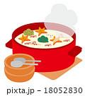 シチューが入った鍋と取り皿 18052830