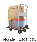 荷物を載せた台車 18054061