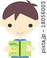 男の子 子供 読書のイラスト 18056003