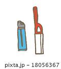 ライター イラスト 白バックのイラスト 18056367