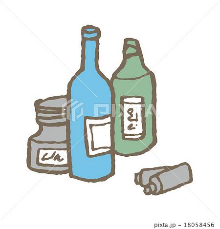 空き瓶と乾電池 18058456