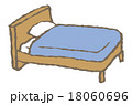 イラスト 白バック ベッドのイラスト 18060696