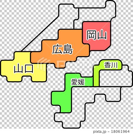 Regional map Setouchi district 18061964