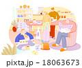 イラスト 家族 くつろぎのイラスト 18063673