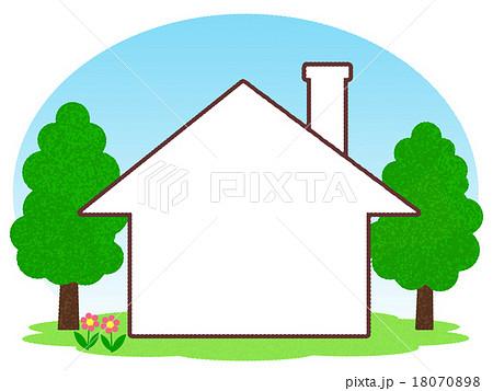 家形のフレームのイラスト素材 18070898 Pixta