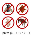 Set of disable signs with pest insects 18073393