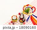 申年・正月飾り 猿と鏡餅 18090160