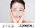 女性 顔 18090391