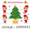 クリスマスツリー こども イラスト 18095652