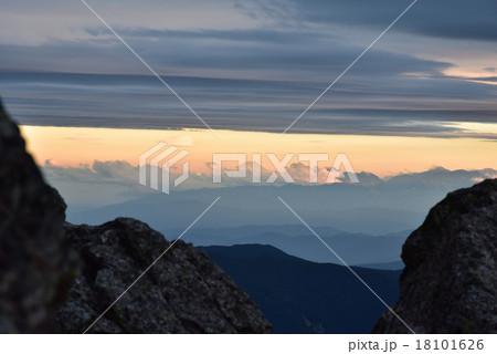 槍ヶ岳から見る富士山 18101626