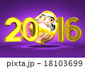 Lucky Daruma Doll And 2016 On Purple Background 18103699