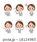 表情 女性 人物のイラスト 18124965