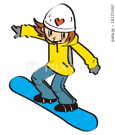 スノーボードのイラスト素材 18125492 Pixta