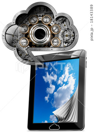Tablet Pc With Cloud Computing Symbol 18143389