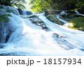 菊池渓谷 自然風景 渓流の写真 18157934
