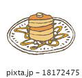 パンケーキ ホットケーキ お菓子のイラスト 18172475