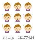 顔 表情 セットのイラスト 18177484