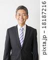 男性 笑顔 ビジネスマンの写真 18187216