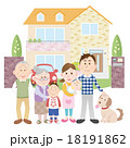 家族 マイホーム 人物のイラスト 18191862