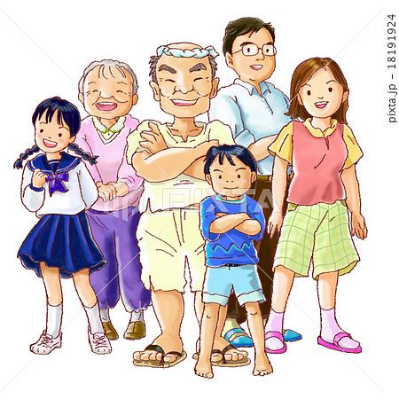 昭和な家族のイラスト素材