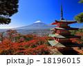 富士山 紅葉 五重塔の写真 18196015