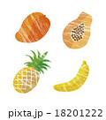 フルーツ トロピカルフルーツ セットのイラスト 18201222