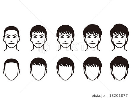 男性の髪形のイラスト素材 18201877 Pixta
