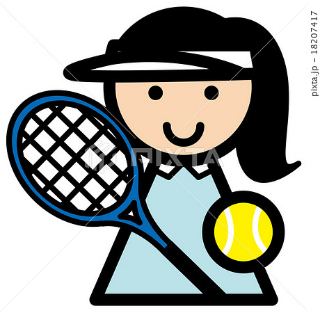 テニス 女の子 18207417