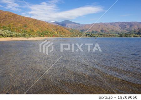 桧原湖水面の風紋 18209060