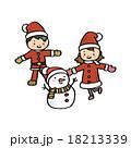 雪だるま クリスマス ベクターのイラスト 18213339