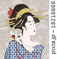 女性 美人 鳥高斎栄昌のイラスト 18216666